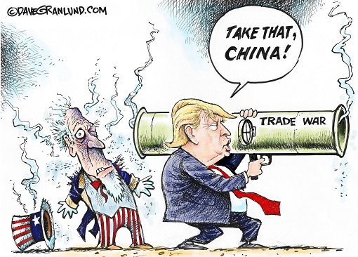 Trump Trade War - Take That China - Hurt Americans