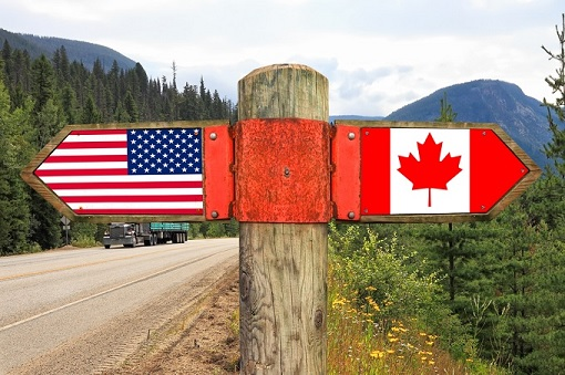 United States - Canada - Sign Board