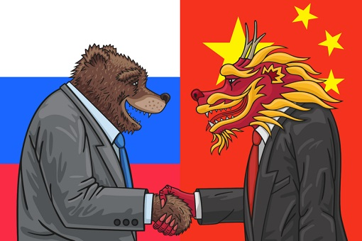 Best Friend - China Dragon and Russia Bear