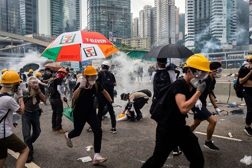 Hong Kong Protest 2019 - Helmet, Hat, Goggle, Umbrella