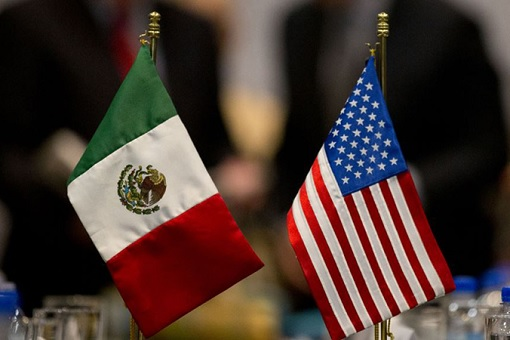 Mexico-United States Flags