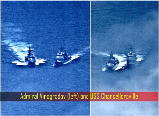 Near Collision - Admiral Vinogradov and USS Chancellorsville