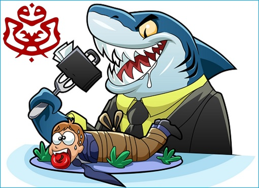 UMNO Corrupt Big Shark - Cartoon