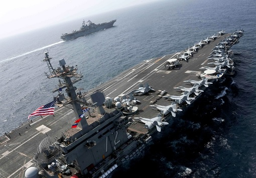 US Aircraft Carrier and War Ship