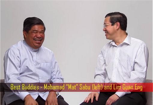 Best Buddies - Mohamad Mat Sabu and Lim Guan Eng