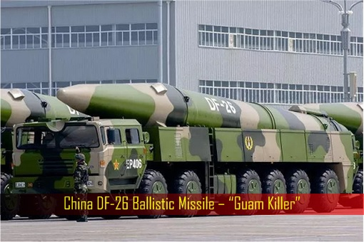 China DF-26 Ballistic Missile – Guam Killer