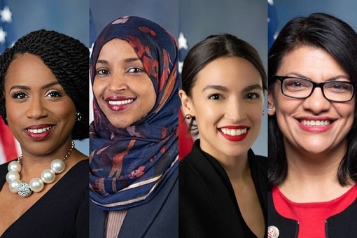 Congresswomen The Squad - Ayanna Pressley, Ilhan Omar, Ocasio-Cortez, Rashida Tlaib