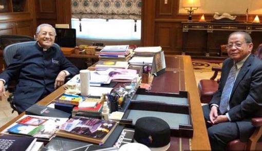 Mahathir Mohamad Meets Lim Kit Siang