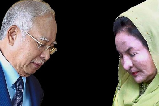 Najib Razak and Rosmah Mansor - Upset Faces