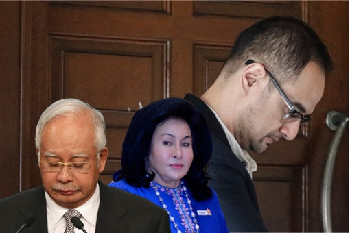 Riza Aziz, Najib Razak and Rosmah Mansor - Gloomy and Solemn