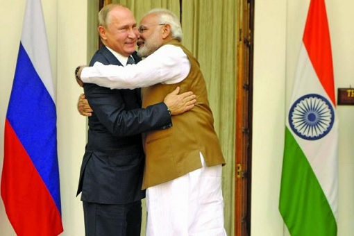 Russian President Putin and Indian Prime Minister Modi