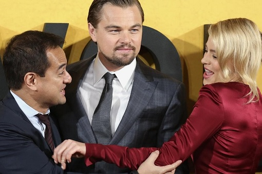 The Wolf of Wall Street - Riza Aziz with Leonardo DiCaprio and Margot Robbie