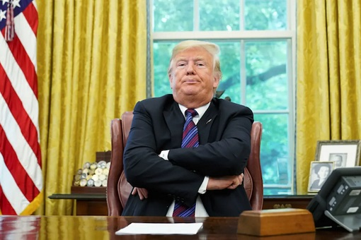 Donald Trump - Fold Arms in Oval Office