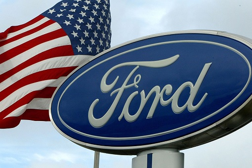 Ford Car - United States Flag