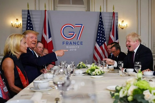 G7 Summit - President Donald Trump Meets Prime Minister Boris Johnson