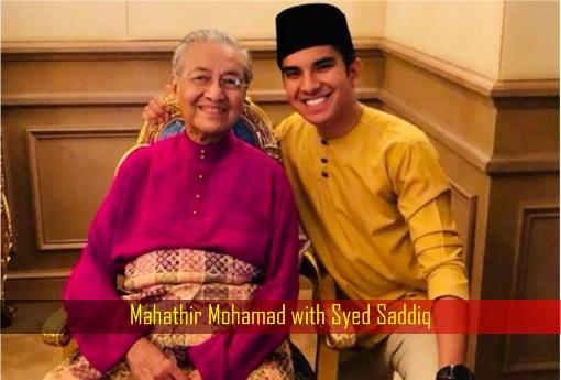 Mahathir Mohamad with Syed Saddiq