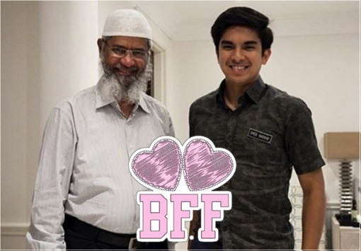 Preacher Zakir Naik and Minister Syed Saddiq - BFF Best Friend Forever