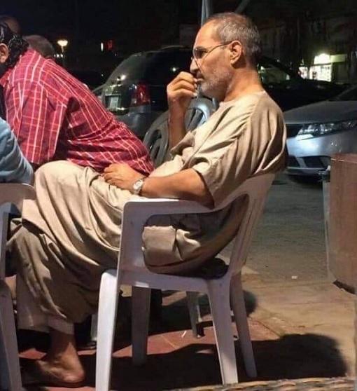 Steve Jobs Having Coffee In Cairo Egypt