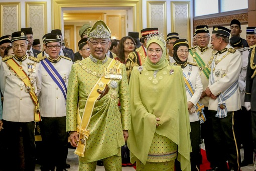 The King Sultan Abdullah and Queen Azizah of Pahang