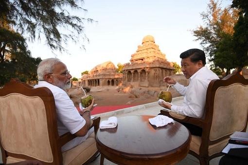 China President Xi Jinping Meets India Prime Minister Narendra Modi - Mamallapuram