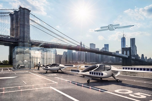 German Lilium - Flying Car-Taxi - Landing Port
