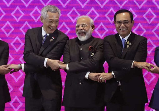 ASEAN-India Summit - Narendra Rao Poses For Group Photo