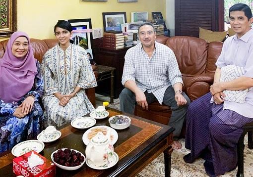 Azmin Ali with Hishammuddin Hussein