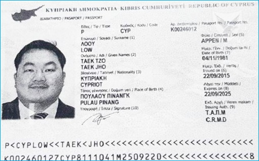 Cyprus Passport - Jho Low