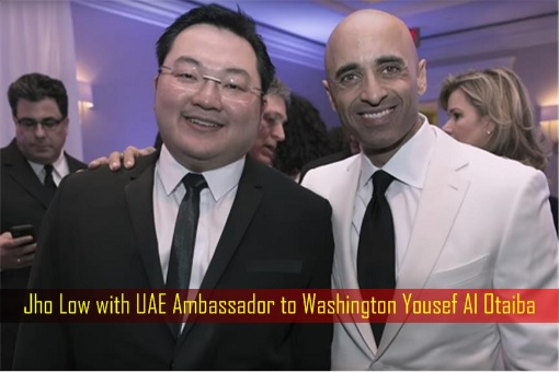 Jho Low with UAE Ambassador to Washington Yousef Al Otaiba