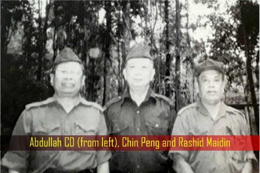 Malayan Communist Party MCP Leaders - Abdullah CD, Chin Peng, Rashid Maidin