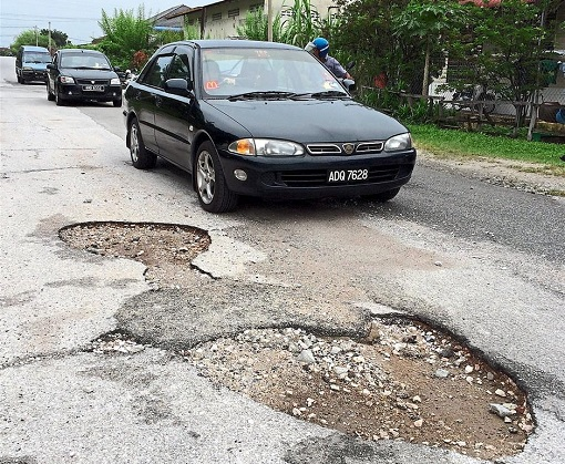 Perak State - Poorly Maintained Road
