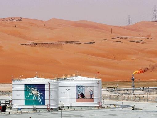 Saudi Aramco Oil Production Facility - Desert