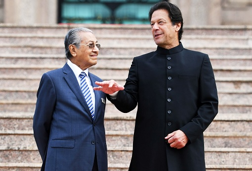 Malaysia Prime Minister Mahathir Mohamad and Pakistan Prime Minister Imran Khan