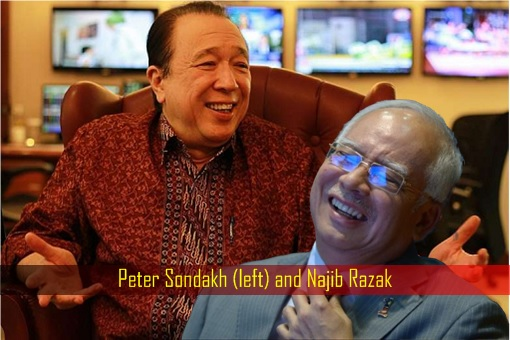 Peter Sondakh and Najib Razak