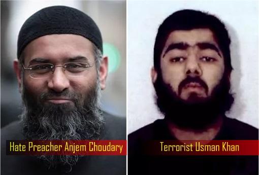 Terrorist Usman Khan and Hate Preacher Anjem Choudary