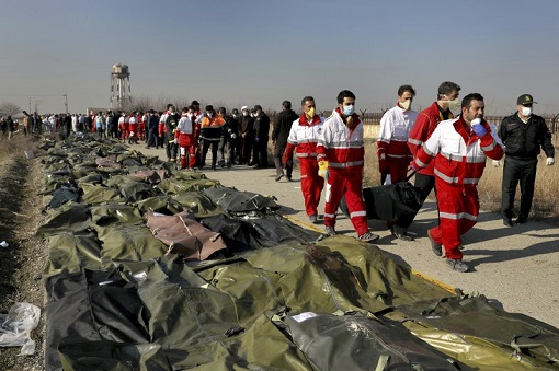 Iran Accidentally Shot Down Civilian Ukraine International Airlines Flight PS752 - Corpses
