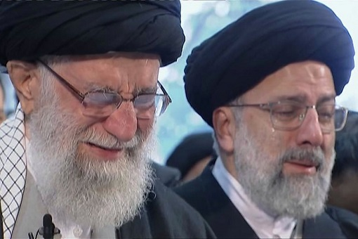 Iran Supreme Leader Ayatollah Ali Khamenei - Crying