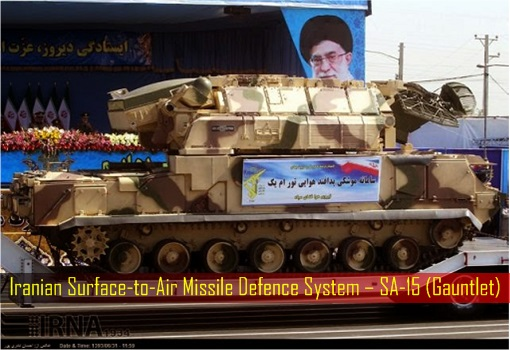 Iranian Surface-to-Air Missile Defence System – SA-15 Gauntlet