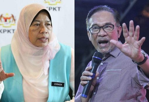 Zuraida Kamaruddin and Anwar Ibrahim