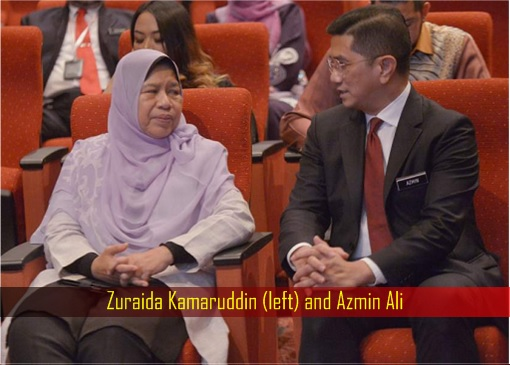 Zuraida Kamaruddin and Azmin Ali