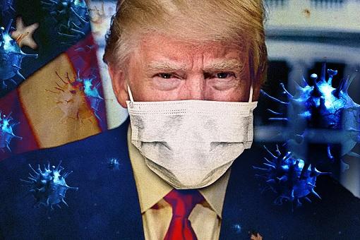 Coronavirus - Donald Trump Wears Mask