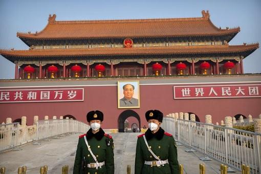 Coronavirus - Guards in Beijing