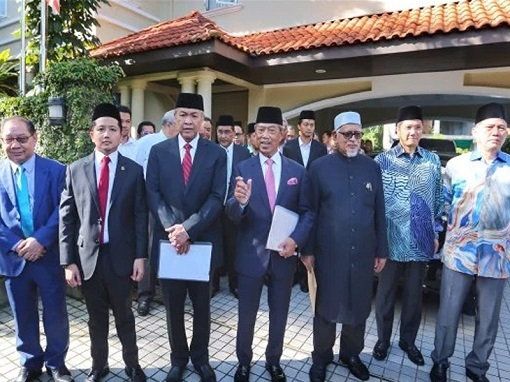 Perikatan Nasional Muhyiddin Yassin and Leaders of Political Groups