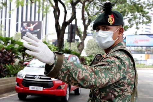 Coronavirus - Malaysia Military Roadblock