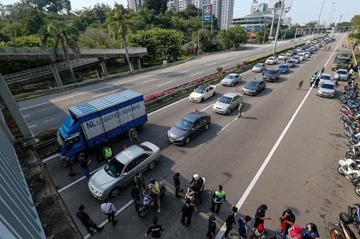 Coronavirus - Malaysia Roadblock