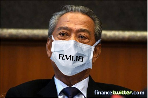 An Admission Of Profiteering - After Screwed Up PM Muhyiddin Will Give Free Masks, Bought Only At RM1.18