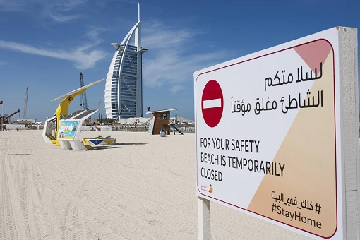 Coronavirus - Dubai Beach Lockdown