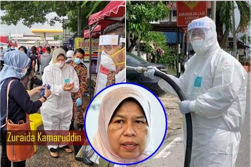 Coronavirus - Zuraida Kamaruddin - Disinfection Stunt Gimmick