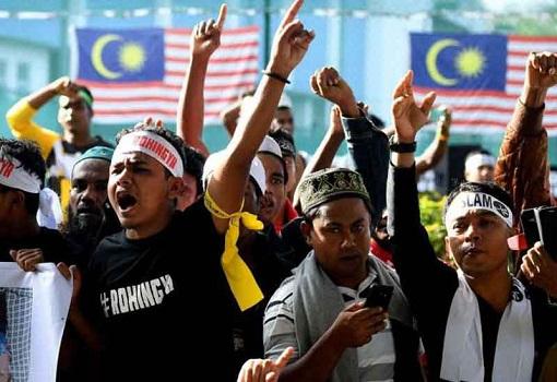 Myanmar Rohingya in Malaysia - Protest