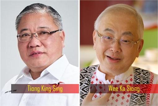 Tiong King Sing and Wee Ka Siong